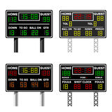 Basketball Scoreboard. Time, Guest, Home. Electronic Wireless Scoreboard Timer. Vector Illustration Stock Photography