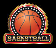 Basketball Seal or Emblem Stock Photography