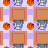 Basketball seamless background design Stock Images