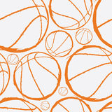 Basketball seamless pattern. Vector illustration of basketball balls Vector Illustration