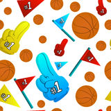 Basketball seamless pattern Stock Image
