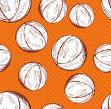 Basketball seamless pattern Stock Photos