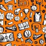 Basketball seamless pattern, sketch for your Royalty Free Stock Photos