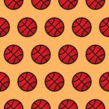 Basketball seamless pattern, vector template. Basketball seamless pattern, vector design, background, wallpaper, flat design royalty free illustration
