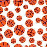 Basketball seamless vector pattern. Basketball seamless pattern. Balls on white background. Vector illustration. Design element. Abstract illustration Royalty Free Stock Photography