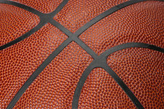 Basketball Seams. Macro (closeup) of Basketball seams stock photo