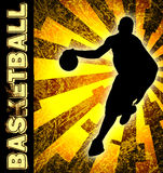 Basketball season flyer Royalty Free Stock Image