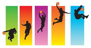 Basketball Sequence Stock Photography