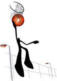 Basketball shooting shadow man Stock Image