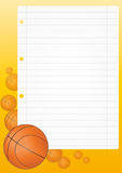 Basketball sheet Royalty Free Stock Image