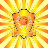 Basketball shield Royalty Free Stock Photography