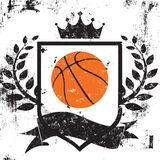 Basketball shield insignia Royalty Free Stock Photo