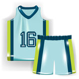 Basketball shirt and trousers Stock Photography