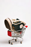 Basketball Shoe. Large basketball shoe in a cart Stock Image