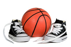 Basketball and Shoes Stock Photos
