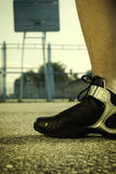 Basketball shoes Royalty Free Stock Images