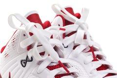 Basketball shoes closeup Stock Photography