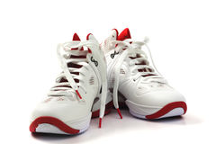 Basketball shoes on white background Stock Photos