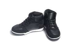 Basketball shoes on white Royalty Free Stock Image