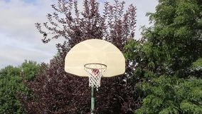 Basketball Shot on an Outdoor Hoop 01 Royalty Free Stock Photography