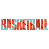 Basketball sign. Vector basketball  poster with double exposure effect Stock Images