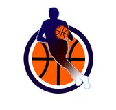 Basketball sign2. Baseball illustration in the circle Royalty Free Stock Images