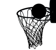 Basketball Silhouette. Royalty Free Stock Photos
