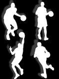 Basketball silhouette Stock Photography