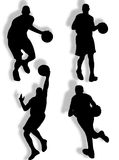 Basketball silhouette Stock Photos