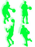 Basketball silhouette Royalty Free Stock Photography