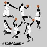 Basketball Silhouette Action Collection Set Royalty Free Stock Image