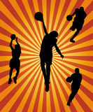Basketball silhouette collection Stock Images