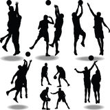 Basketball silhouette  Stock Image