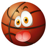 Basketball with silly face Stock Images