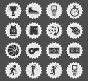 Basketball simply icons Stock Images