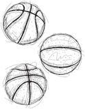 Basketball sketches Stock Photos