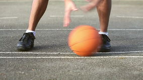 Basketball Skill Dribbling stock video footage