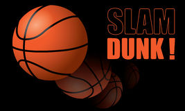 Basketball Slam Dunk! Stock Photos