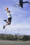 Basketball Slam Dunk Stock Images