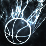 Basketball in the smoke royalty free illustration