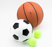Basketball and soccer ball tennis ball Stock Photos
