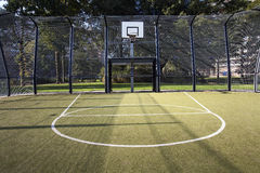 Basketball and soccer cage Royalty Free Stock Photos