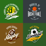 Basketball and soccer, rugby and tennis icons Stock Photo