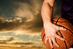 Basketball-Spieler Stockfotografie