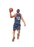 Basketball-Spieler auf Weiß lizenzfreies stockfoto