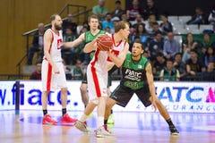 Basketball-Spieler in der Aktion Lizenzfreie Stockfotos