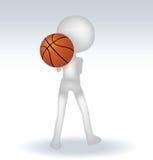 Basketball-Spieler des Menschen 3d Lizenzfreie Stockfotografie