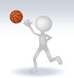 Basketball-Spieler des Menschen 3d Stockbilder
