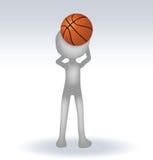 Basketball-Spieler des Menschen 3d Stockbild