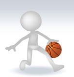 Basketball-Spieler des Menschen 3d Stockfotografie
